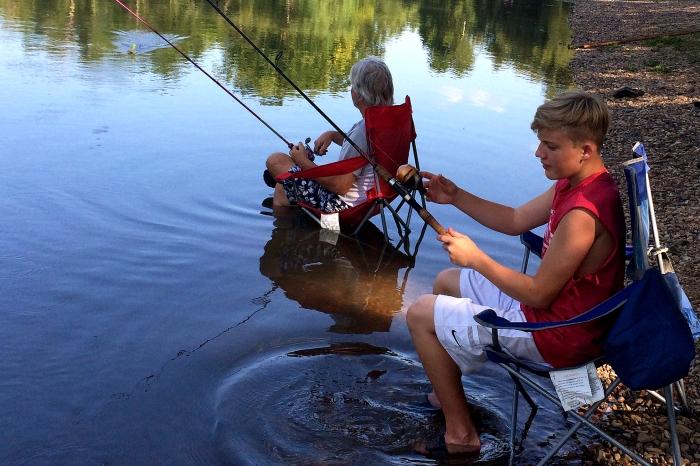 Papa Luke Fishing