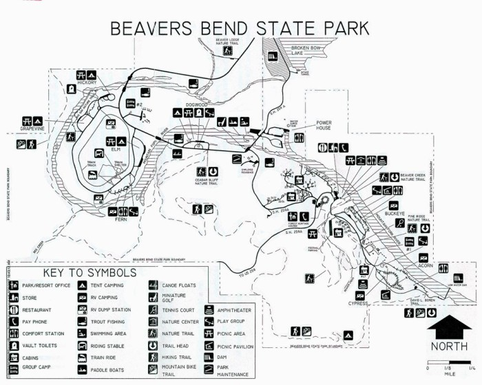 Image Result For Beavers Bend State Park Camping Map