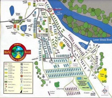 Marval Campground Map
