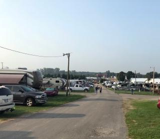 Blog Rally parking lot