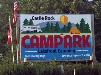 Castle Rock Campground Sign