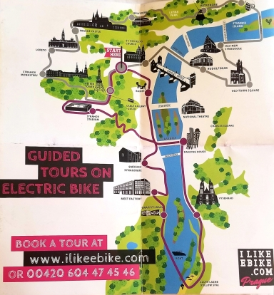 Electronic Bike Tour Map
