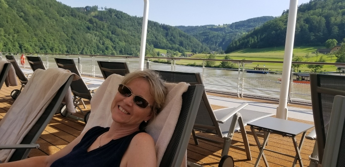 Relaxing on Cruise Deck