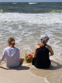 Aunt Mandy & Addi (Sand Pedi)