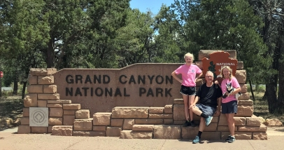 Group at Canyon Sign