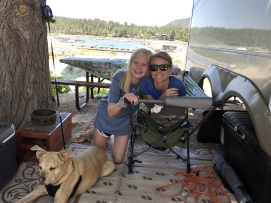Mandy and Lily at campsite
