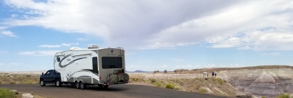 RV in Petrified Forest