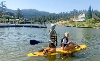 Mandy and Lily Paddle Board Boulder BayV2