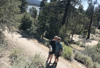 Mandy and Mom trail with Lake