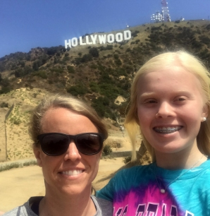 Mandy & Lily with Hollywood Sign