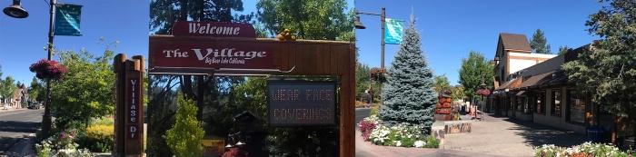 Village Sign with Face Mask WarningsV3